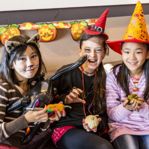 Kids In Costume At Halloween Event 2016