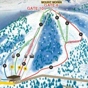Moiwa Trail Map