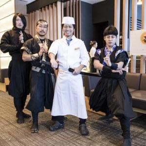 Ninjas with An Dining Head Chef, Shinichi Maeda