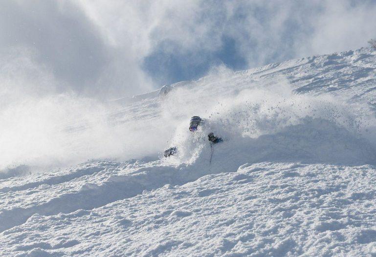 Niseko powder skiing