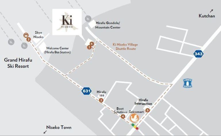 Ki Niseko Shuttle Map 201819