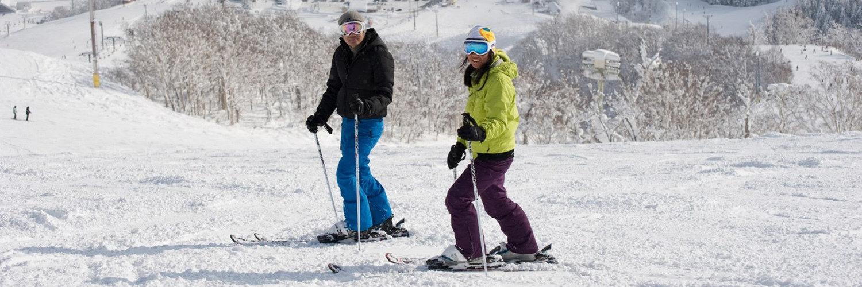 Skiing Couple Hero