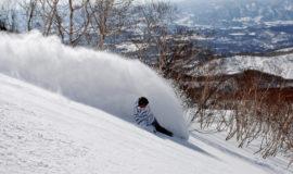 Winter Snowboarder Heavy Powder