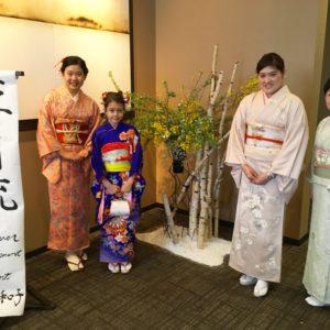 Hosts presenting the Ikebana Workshop.