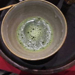 Macha (green tea) at the Tea Ceremony.