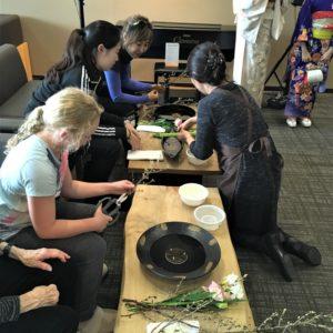 Ikebana  Workshop to celebrate Valentine's Day.