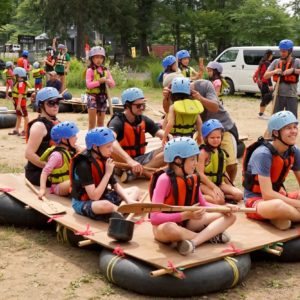 Getting ready to raft.