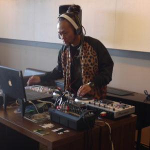 DJ spinning beats.