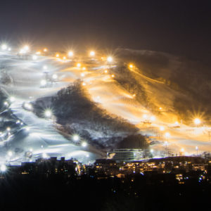 Night Ski Lights Grand Hirafu 01 24 18 4