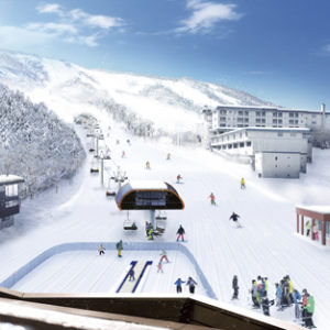 Planned design and layout of the new Family Lift in Niseko Hirafu.