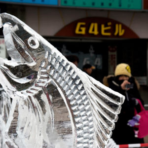 Magnificent ice sculptures to admire.