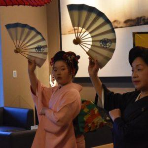 Kids kimono dance.