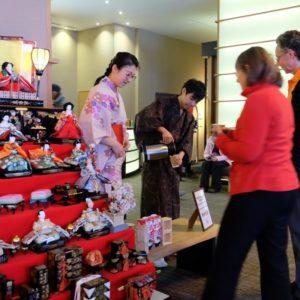 Guests enjoying Amazake tasting.