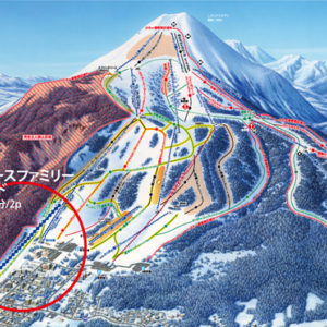 Location of the new and improved lift at Niseko Hirafu.