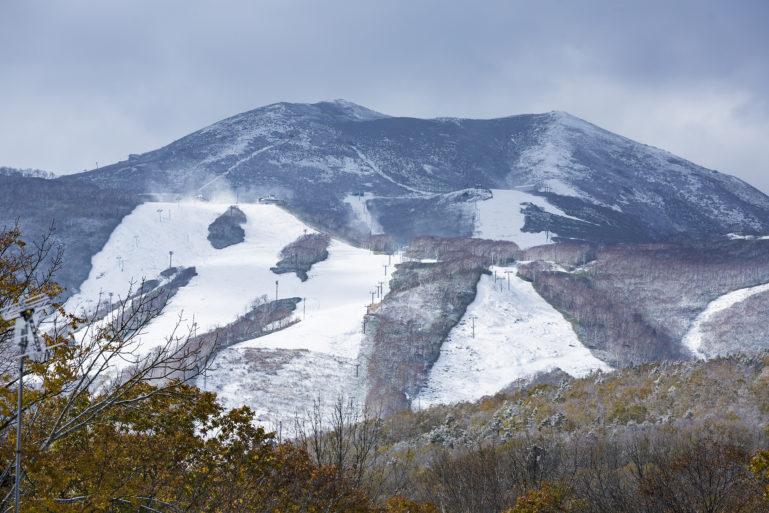 Mt Annupuri snow covered ski fields
