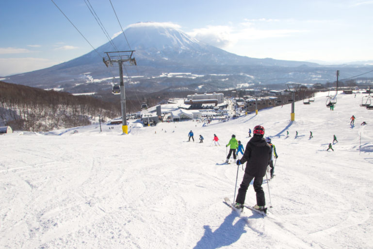 Sunny Skies Empty Slopes Hirafu Gondola