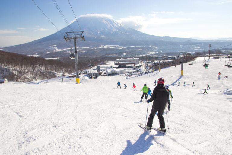Sunny Skies Empty Slopes Hirafu Gondola