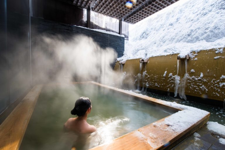 Public Onsen Winter