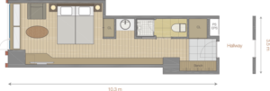 Hotel Room Floor Plan