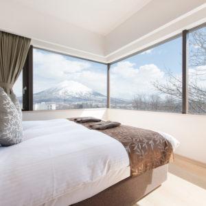1ベッドルームのお部屋から冬の眺め