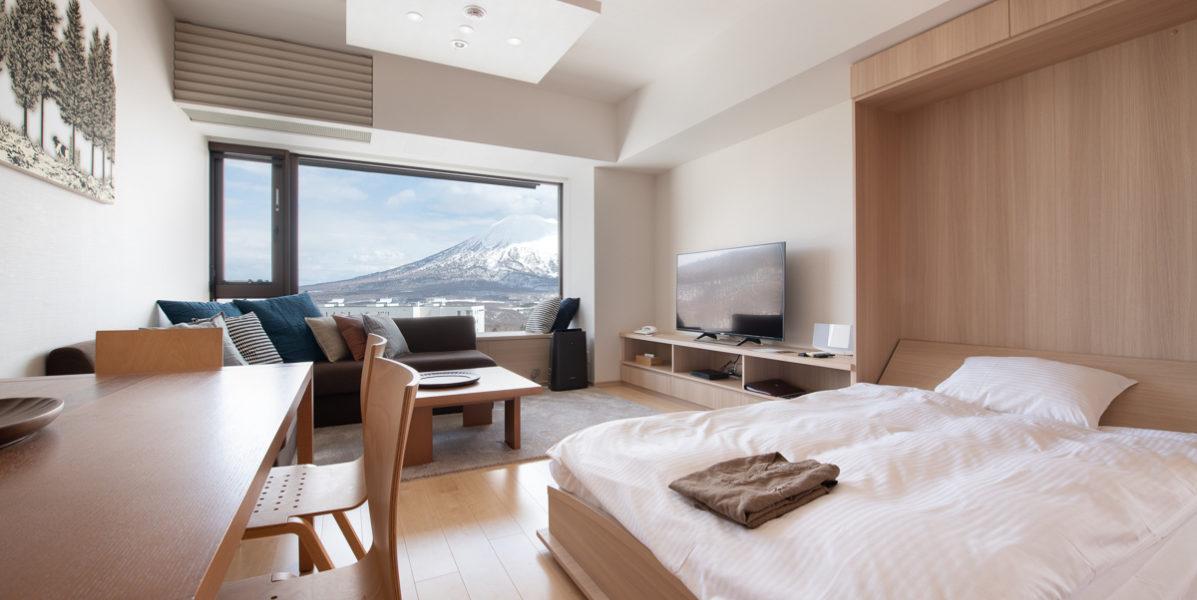 Ki Niseko 1 Bedroom Deluxe Living Room