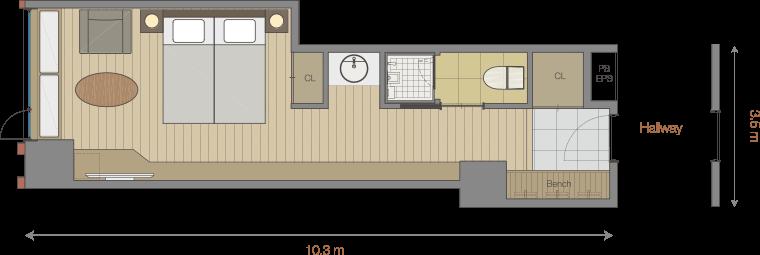 Hotel Room Floor Plan Part 93