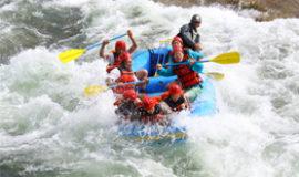 Water rafting in Niseko.