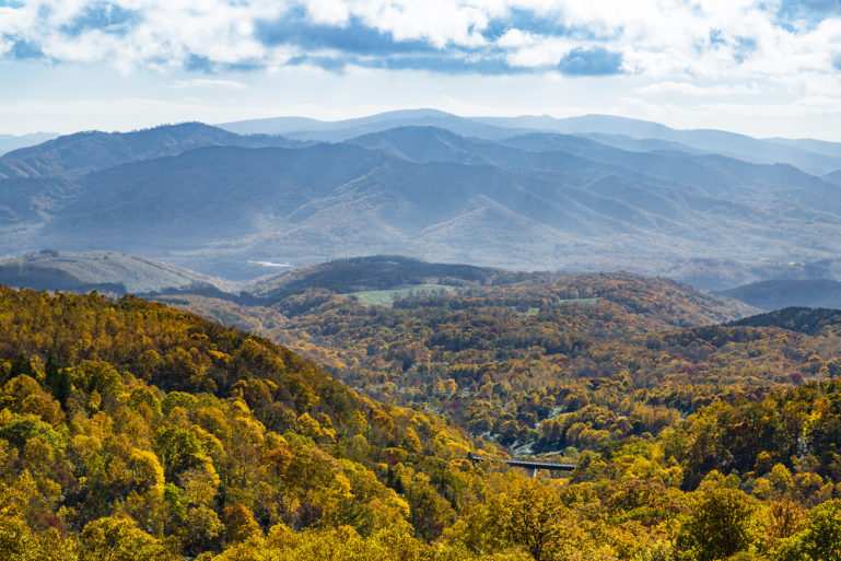 Panorama Line In Autumn 2